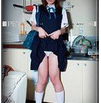【手足を拘束させられ寝たままパンツ失禁させられる女子高生】鈴木ありさ PET キミはボクのペット 08