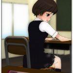 【授業中にクラスメートJCが失禁する様子を斜め後ろの席から眺める】おしっこ女の子、ぷしゃあ!